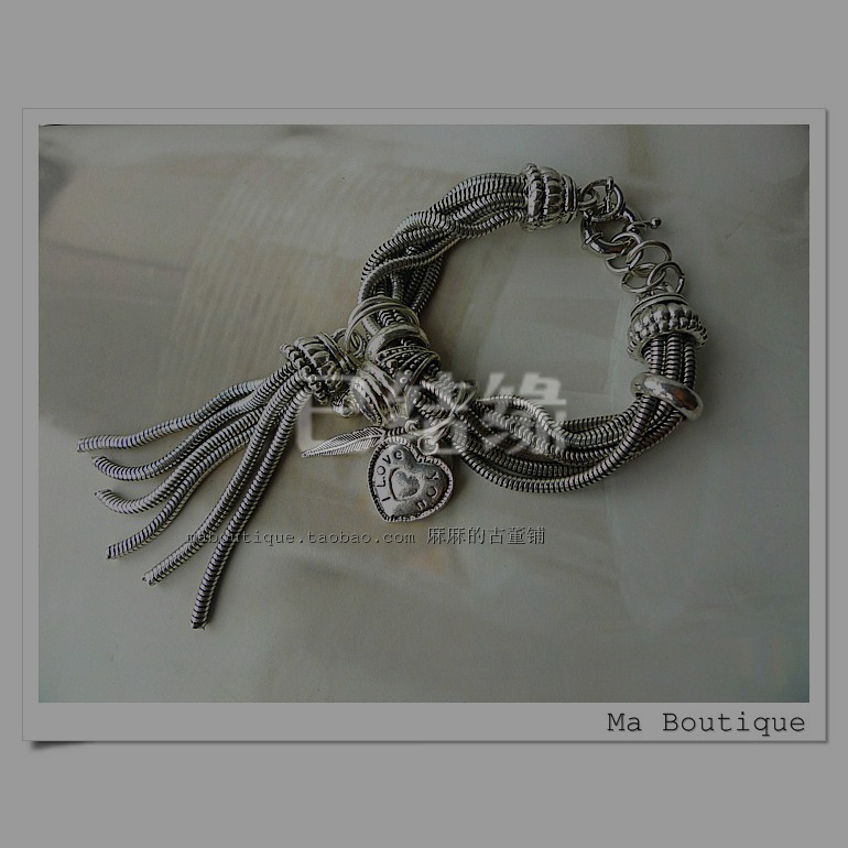 Цепочка на руку MA BOUTIQUE 100 Antiqued Silver Plated