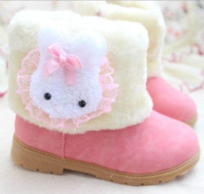 Autumn and winter snow boots children boots 1-2-3-6 old girl little girl princess padded shoes boots winter models