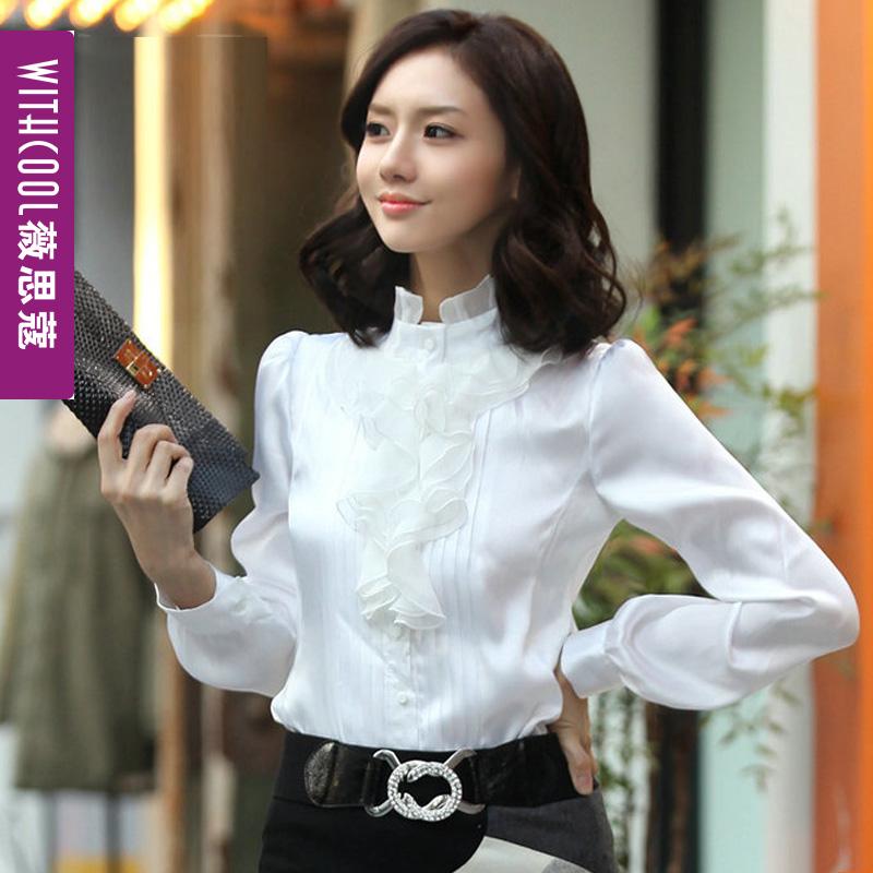 立领衬衫女上衣