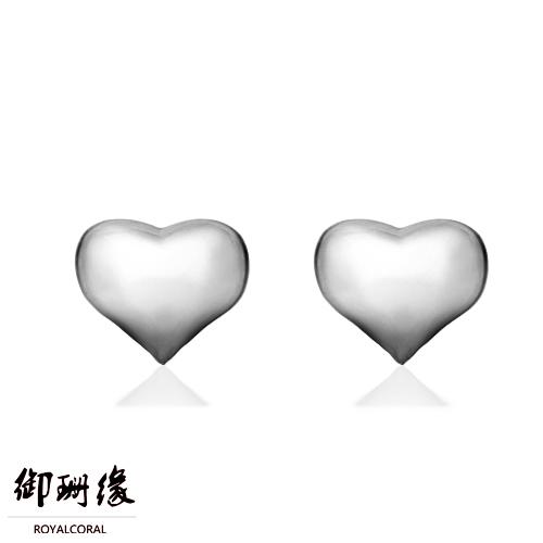 御珊缘心形银耳钉纯银女s925小心形耳钉可爱韩国纯银耳钉素银银饰