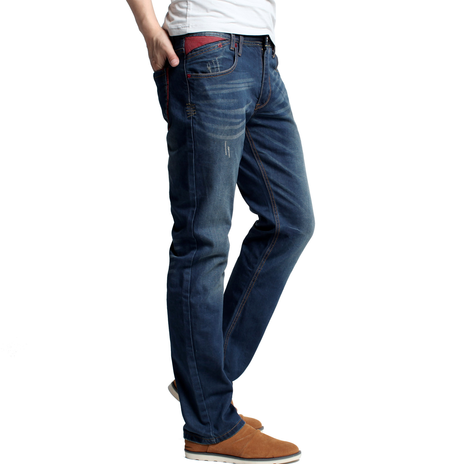 Джинсы мужские KUEGOU 1120 FK- Классическая джинсовая ткань 2013