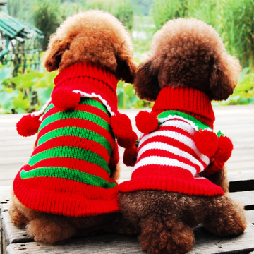 Free shipping pet clothes wealth ball pompon snow cones turtleneck Teddy Bichon dog clothes fall and winter clothes