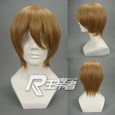 cosplay wigs fake hair reddish brown square bag cartoon face close deals now face daily high temperature wire