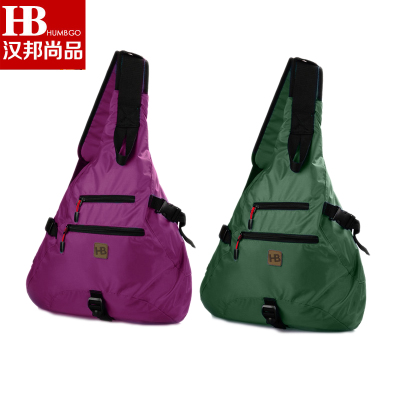 Parti goods is still authentic outdoor water droplets travel sporty oxford cloth shoulder diagonal triangle backpack bag men and women