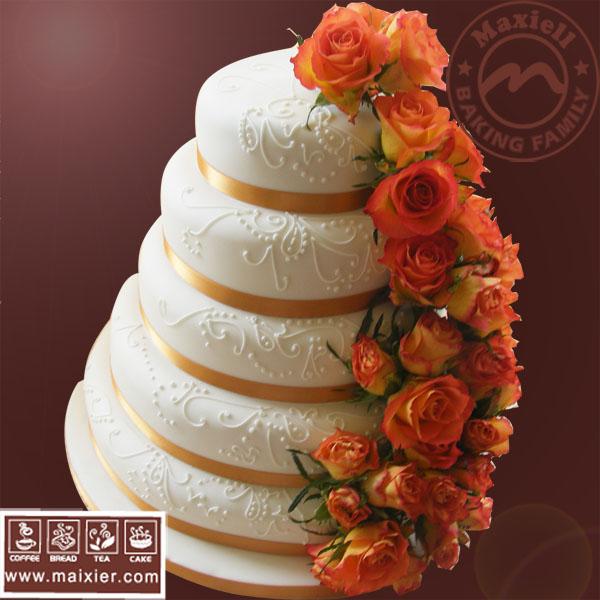 翻糖蛋糕 婚礼蛋糕 北京预订蛋糕 创意高级鲜花蛋糕 纪念日庆典