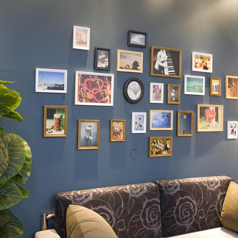 创意家居生活馆23DE相框组全欧式+椭圆 时尚造型墙上装饰品照片墙