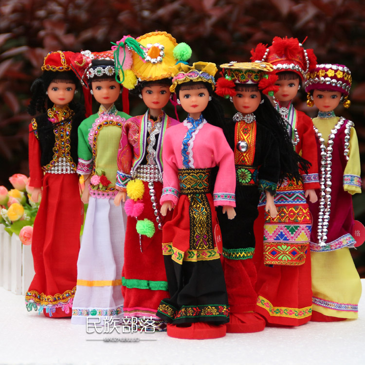 Toys For Minorities : Features of yunnan minority ethnic dolls doll ornaments