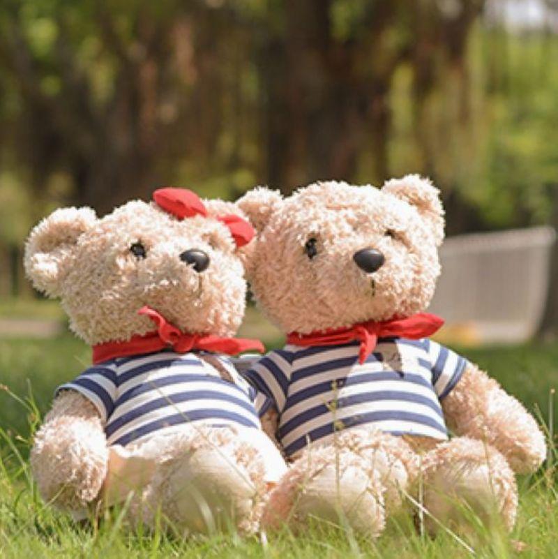 毛绒玩具metoo咪兔情侣泰迪熊公仔玩偶结婚礼物婚庆压床娃娃一对
