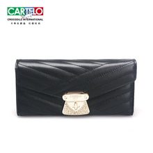 CARTELO/CARTELO new women's long line decoration leather soft face purse wallet in hand bag