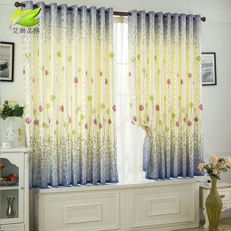 [character] Airsun finished clearing short curtains Piaochuang curtains half curtain semi shade bedroom balcony curtains