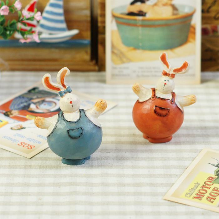 田园风格装饰品树脂工艺品摆件树脂情侣小兔婚庆情侣礼物一对特价