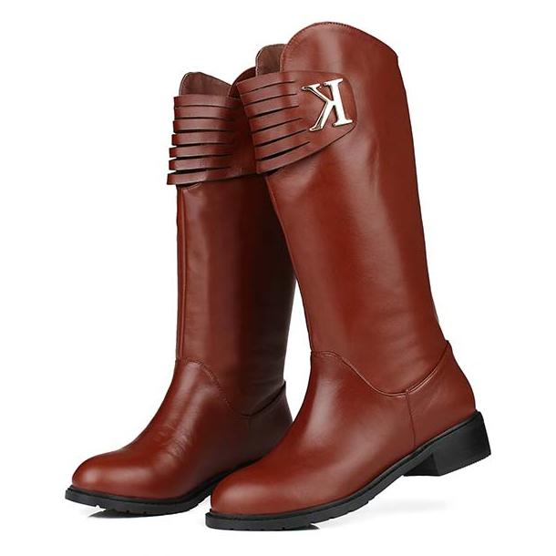 Женские сапоги Осень/Зима 2013 женские сапоги ботинки сапоги плоские Сапоги женские сапоги с первого слоя кожи вокруг пакета почты