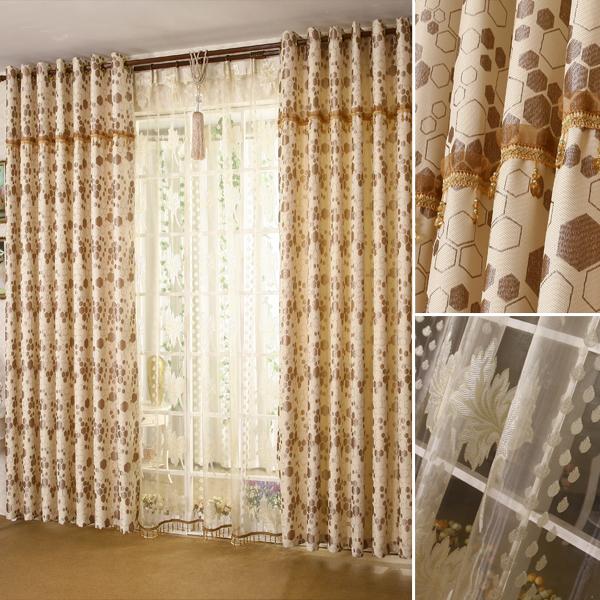 客厅窗帘布高档现代