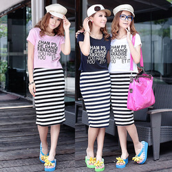 Korea style large size suit the female style track suit skirts