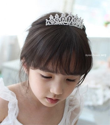 Oufu Ting children dress accessories Children crown headband, children headwear, shiny rhinestone crown HG822