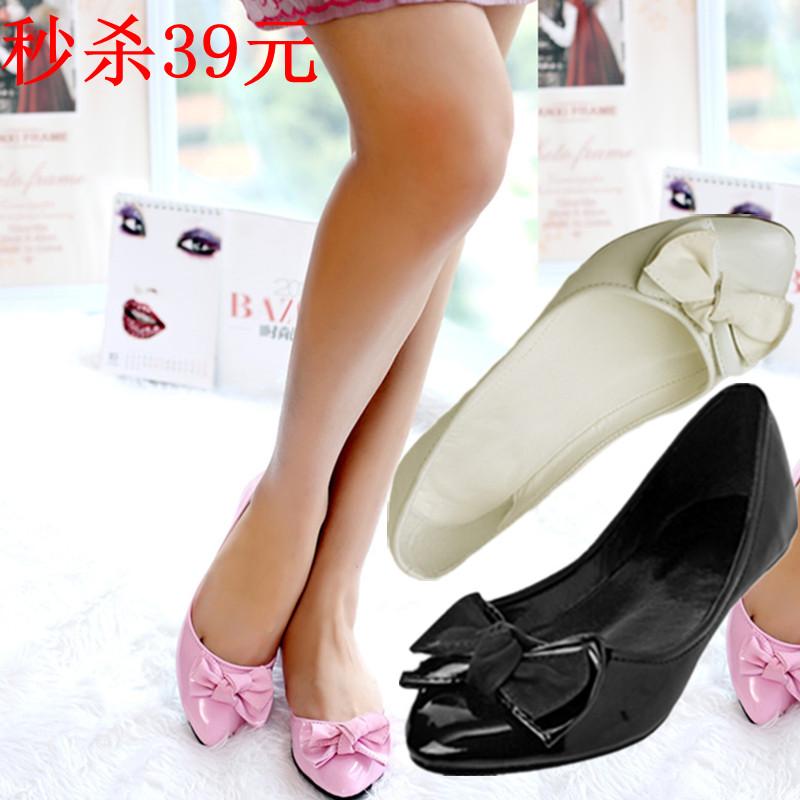 【鞋包】小尖头英伦风豆豆鞋