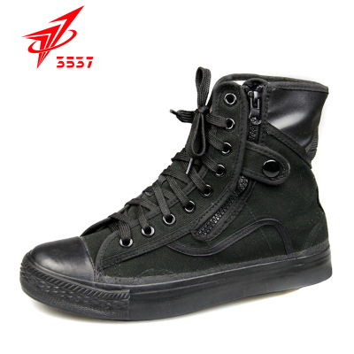 Gifted shoes shoes Jiefang Xie Jun 3537 training shoes canvas shoes men canvas high-top black commando boots