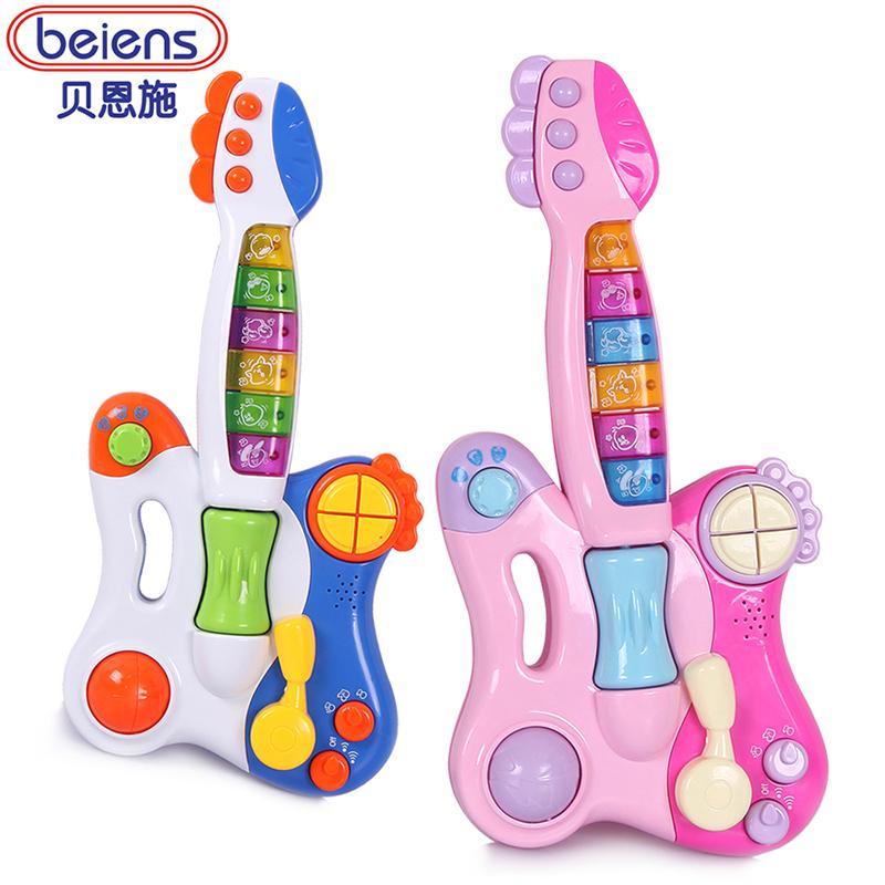 Детская гитара Beienshi детей игрушка гитара гитара музыка раннего ребенок цветок детские музыкальные игрушки почта