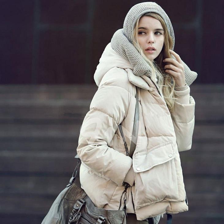 Женский пуховик Корея зима 2013 новый прилив обороны положить толстый капюшоном вниз куртка женщин короткие пуховик