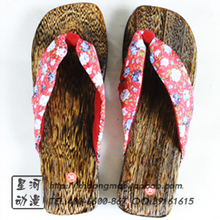 Cool summer Japanese paulownia burning wedges slippers ms wood slippers Women clogs sandals clogs sandals