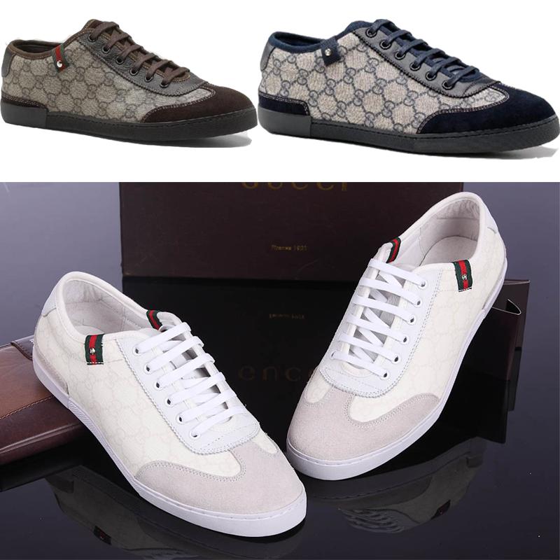 Демисезонные ботинки GUCCI Для отдыха Верхний слой из натуральной кожи Круглый носок Шнурок