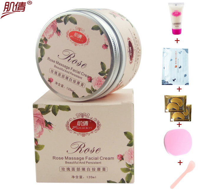 Authentic muscle beauty rose 120ML Whitening Moisturizing facial cream Detox massage balm/conditioning cream