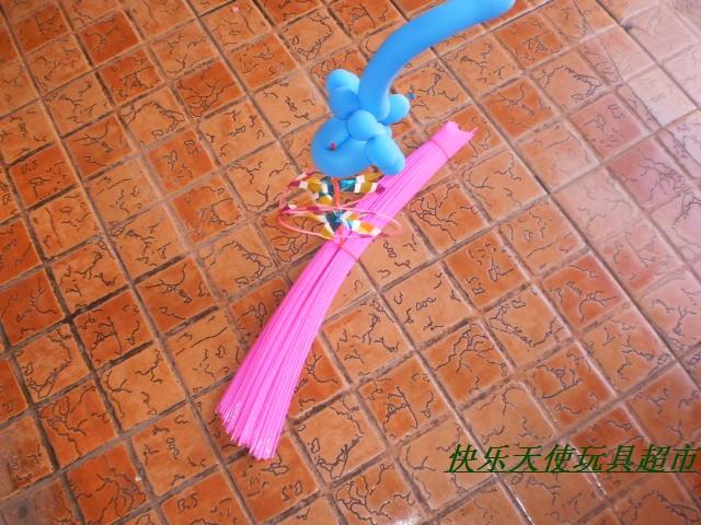 儿童玩具 魔术气球组装风车风车圆圈塑料条 六一儿童节批发