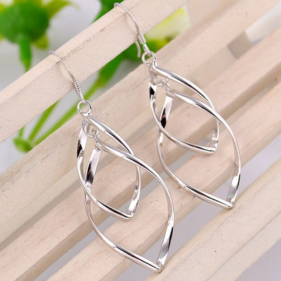 Valentine's Day gifts Korea exaggerated 925 sterling silver stud earrings earrings earrings silver jewelry