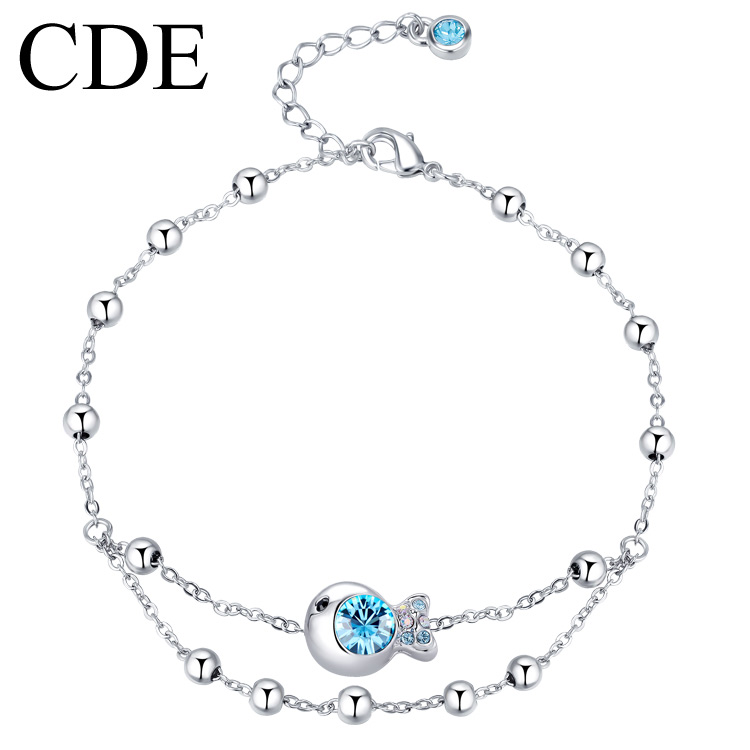 Female clownfish CDE jewelry anklet Korean fashion Austria imported crystal specials email gift