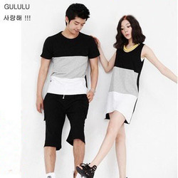 The shirt lovers short sleeve t shirt korean style couple skirts