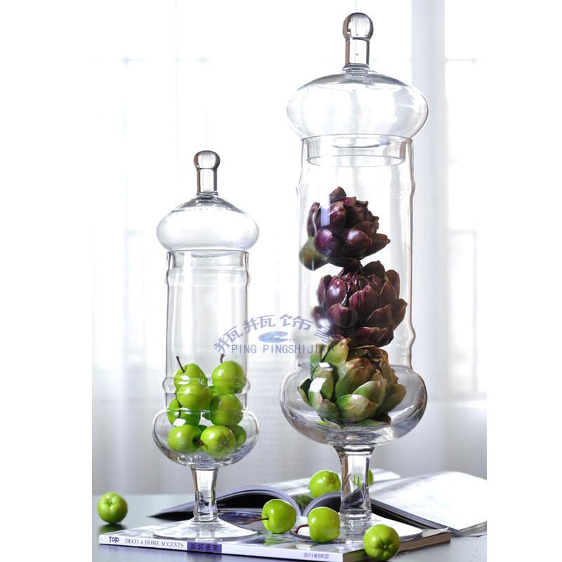 装饰玻璃器皿摆件 糖果罐 储物收纳罐 婚庆用品摆件 家居装饰摆设