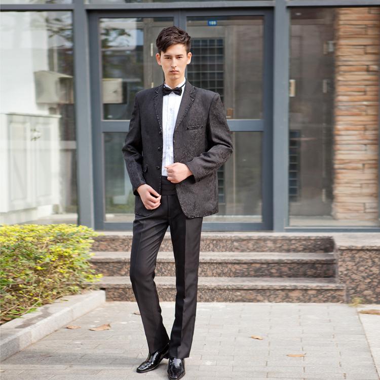 特价包邮新郎礼服男西装套装结婚礼服男士婚礼服宴会时尚司仪礼服