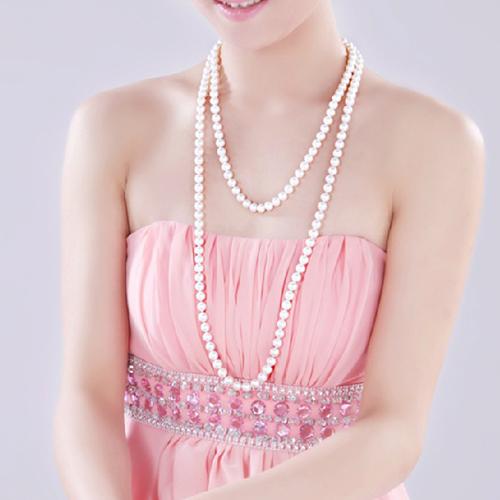 韩版长款珍珠多层百搭毛衣链时尚新款项链女款饰品配饰礼物