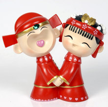 Wedding dolls new marriage room decoration gift decoration wedding gift ideas couples save money piggy bank furnishing articles