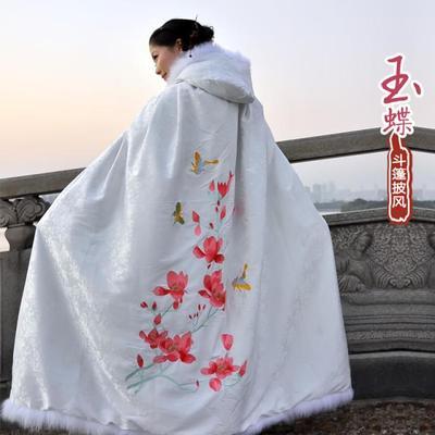 绮年华裳-汉服--绣花斗篷--玉蝶