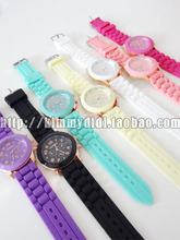 Big love Japanese harajuku ayumi soft sister candy watches lovers with fluorescent color restoring ancient ways, silicone sports watches