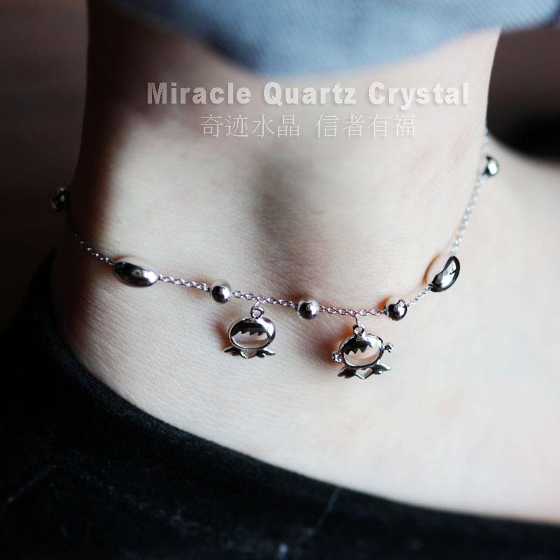 [MISSA]天使 福星宝宝 925纯银脚链 意大利进口银珠 超亮
