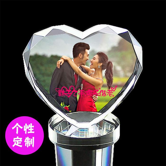 DIY创意新婚礼物 结婚 周年 纪念生日 送女友男友水晶摆件送老婆