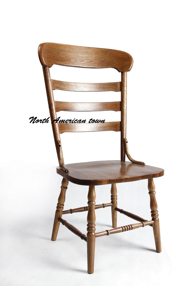 美式乡村 餐椅 靠背椅 实木椅子 餐桌椅 欧式 简约 田园风格 北欧