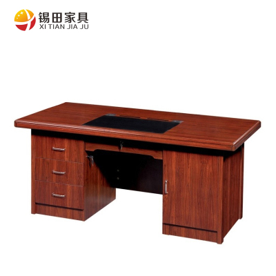 Tin Tin office furniture computer desk desk paste wood skin red walnut wood table factory direct special