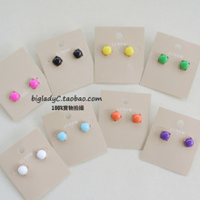 The window small doudou __J * CREW marking the original single fruit color restoring ancient ways in Europe and America stud earrings Color claw set 8 colors