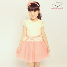 Children's clothing girls sundress 2013 new dress Korean version of the big boy lace princess gauze skirt children skirt
