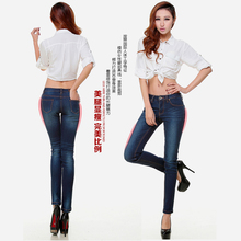 Spring models new Korean version of the Slim waist jeans were skinny pants female elastic pencil pants trousers Women