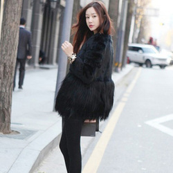Fashion noble personality sweet lady temperament ladies fur coat