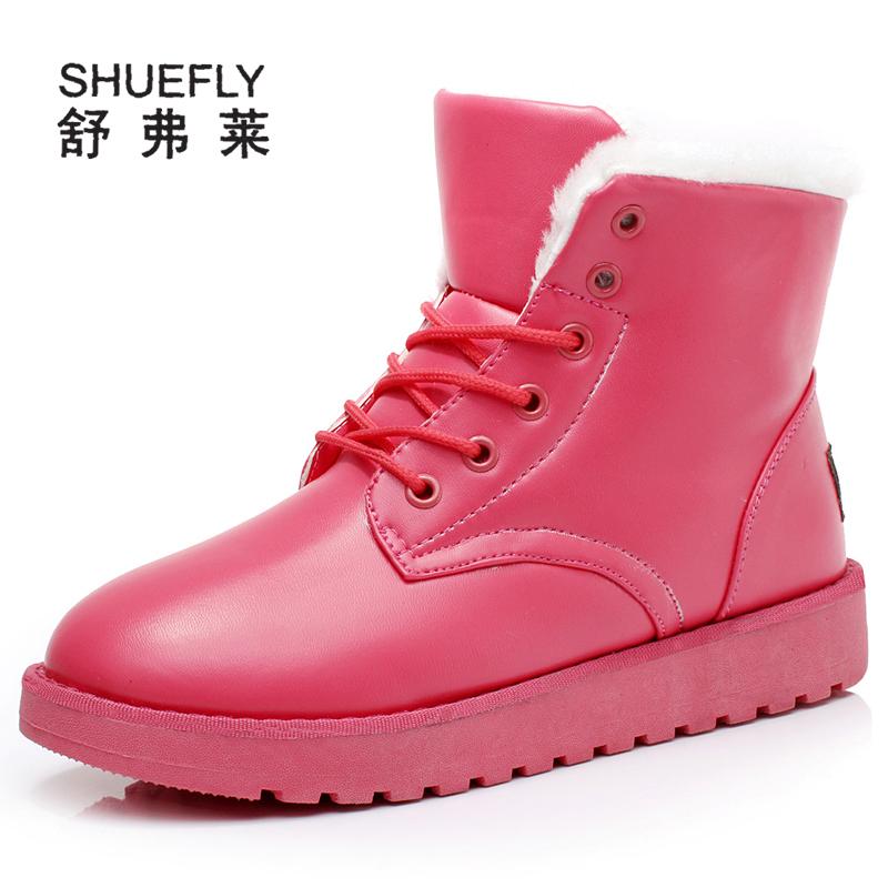 秋冬季冬天女鞋短靴防水马丁靴女款棉鞋韩版防滑平底雪地靴女靴子