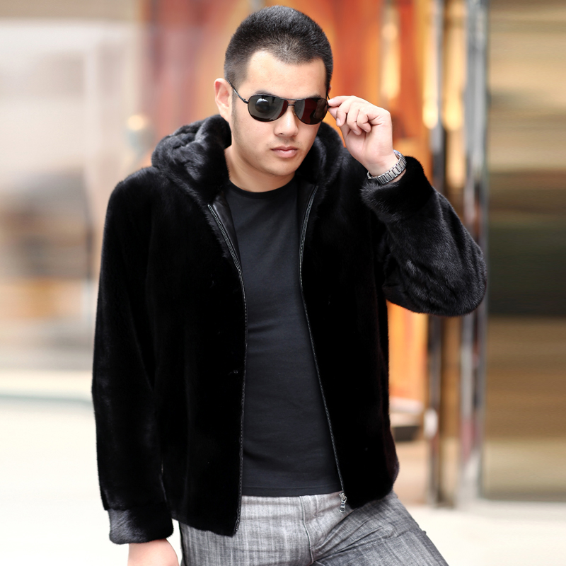 Одежда из кожи Sidilaolun C4 2013 С мехом С мехом Зимняя Воротник с капюшоном