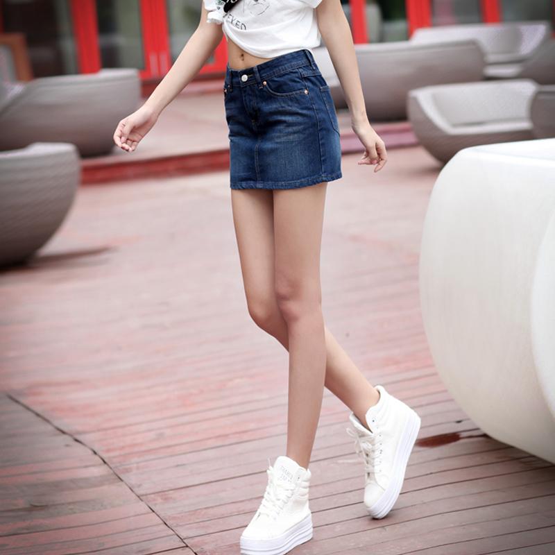 Lee秋冬新款韩版显瘦修身牛仔裙女 时尚百搭半身裙T505