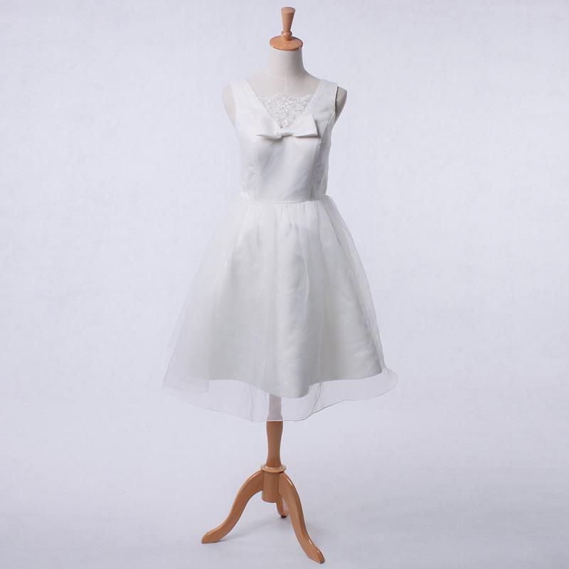 定制婚纱礼服 新款2013优雅公主伴娘礼服 短款晚礼服 吊带演出服