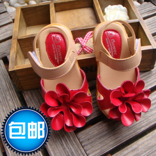 Special Crown shipping Girls Shoes Sandals Korean girls small flowers baby shoes sandals Princess shoes