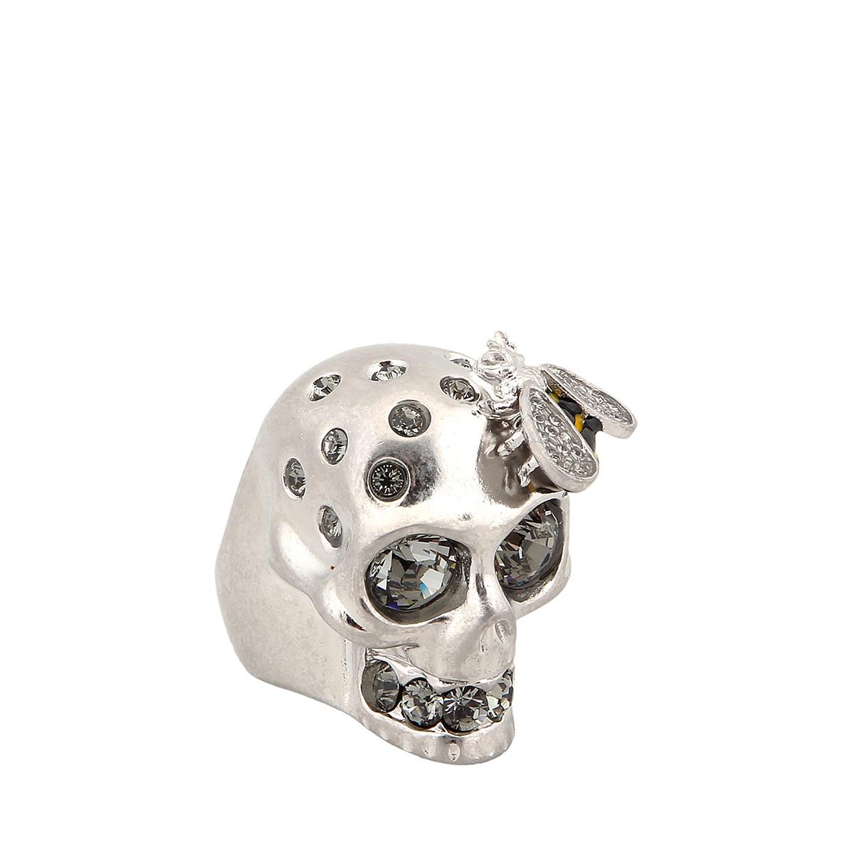 ALEXANDER MCQUEEN亚历山大麦昆 金属材质骷髅头样式女士戒指